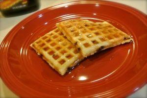 Banana Choc Chip Waffles