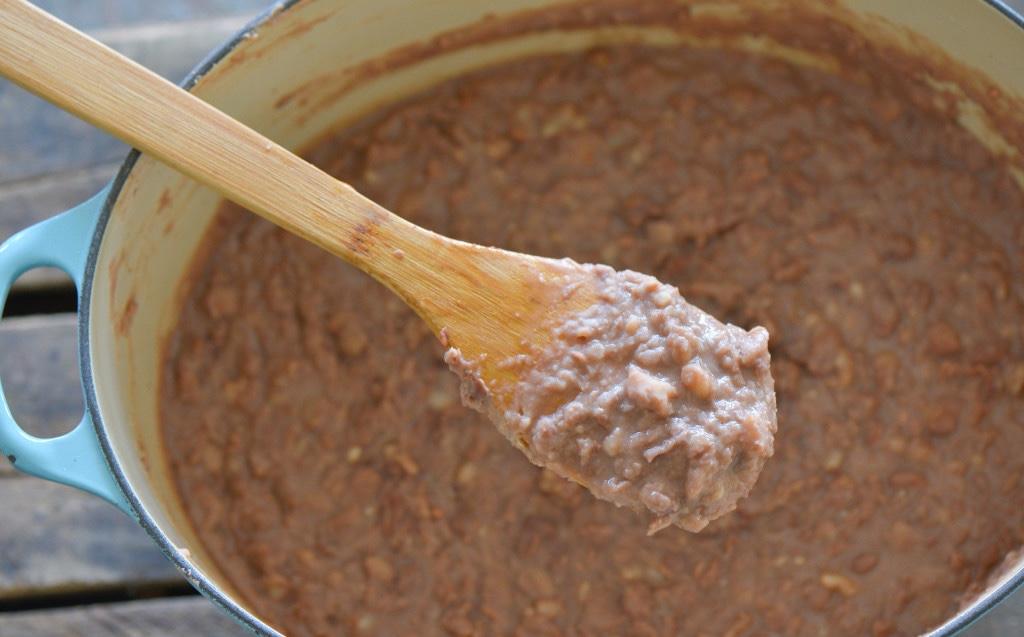 Homemade Restaurant Style Refried Beans
