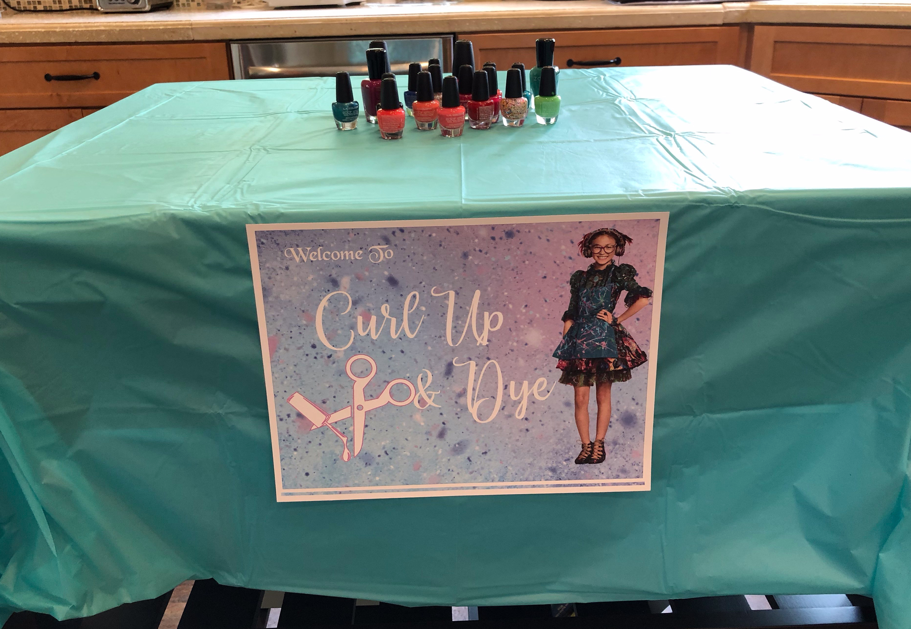 Descendants party activity table based on a character