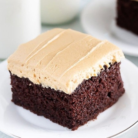 Double Chocolate Banana Cake with Peanut Butter Frosting