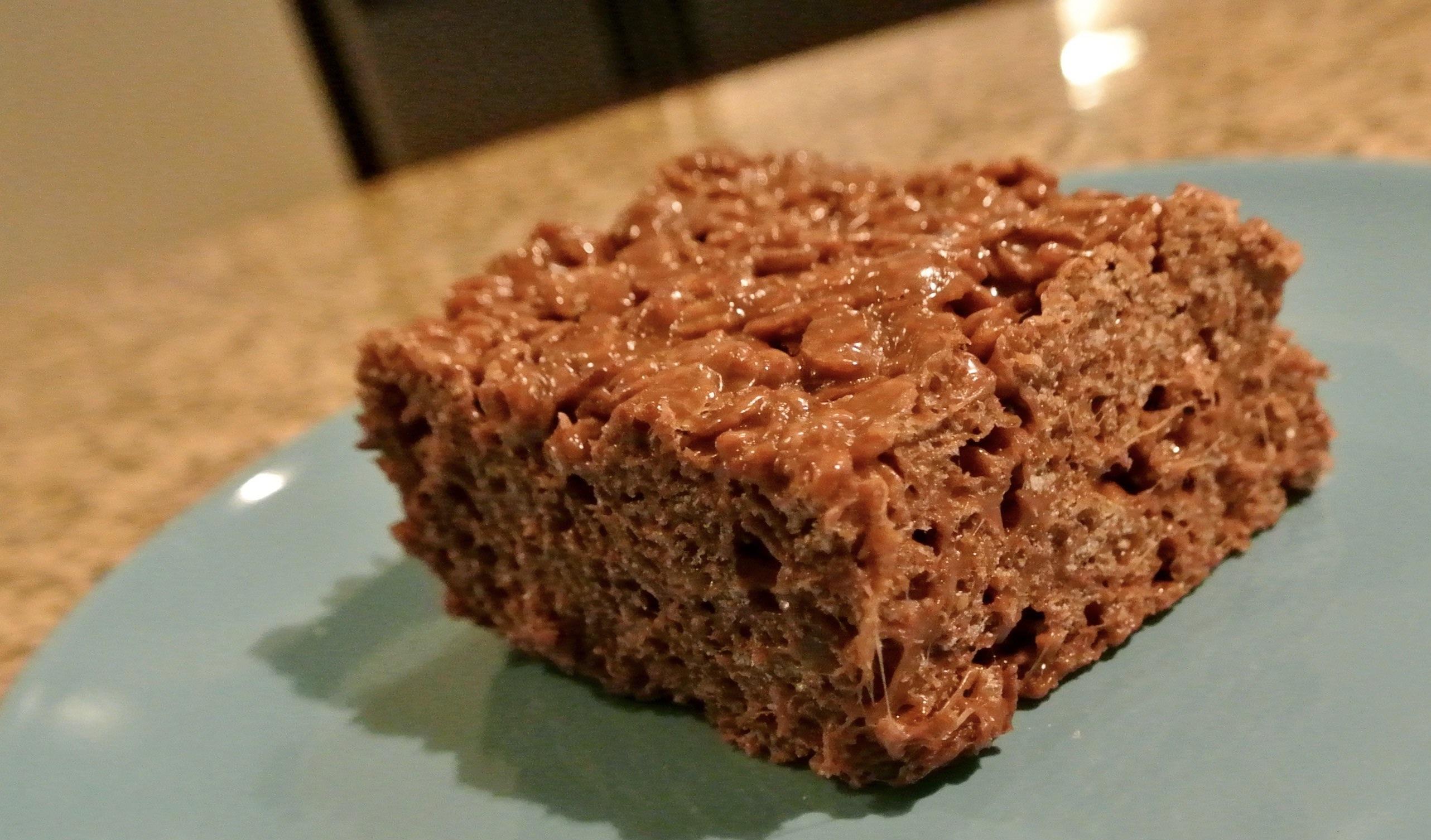 Triple Chocolate Peanut Butter Rice Krispy Treats