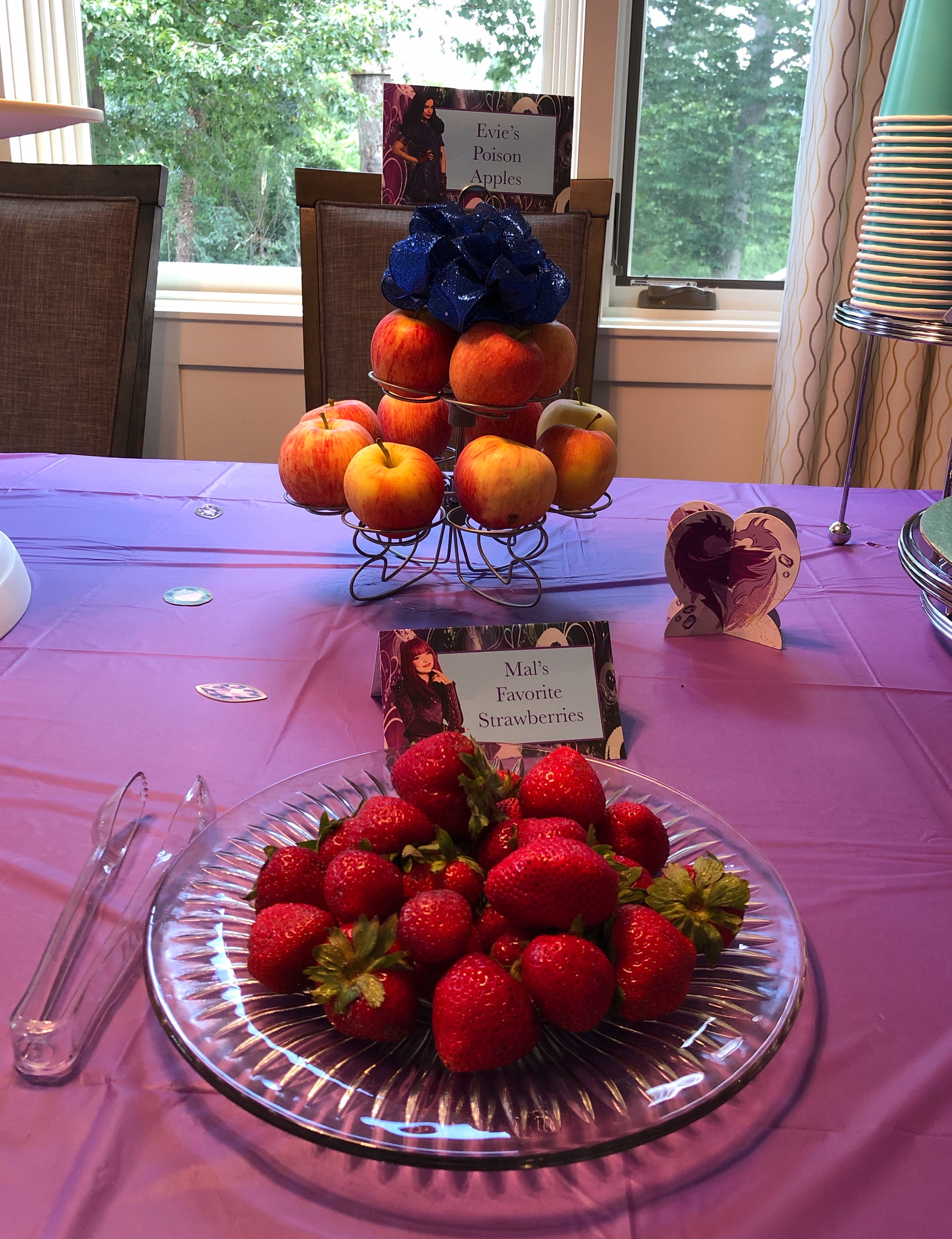 Descendants Party Food based on character